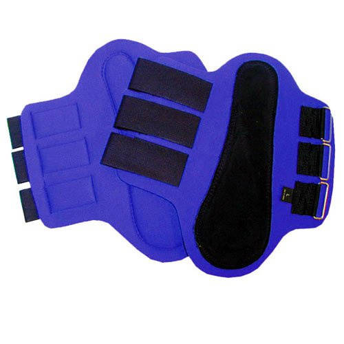 (Intrepid International Splint Boots with Black Patches, Medium, Blue)
