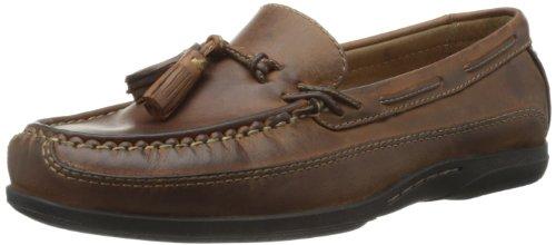 Johnston & Murphy Men's Trevitt Tassel Loafer,Tan Full Grain,9 M US (Johnston & Murphy Leather Moccasins)