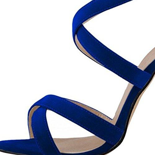 verano tobillo Oasap tacones Stiletto elegante mujer altos azul tiras qEPqvtw
