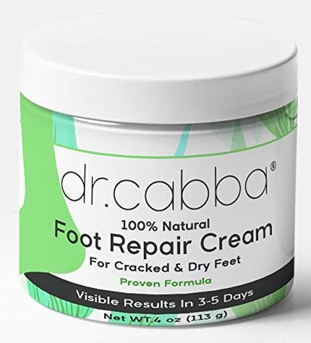 Natural Foot Cream For Dry Cracked Feet - RESULTS Within Days Or Pay Nothing - Deep Moisturizing Formula With Urea - for Cracked Heels, Dry, Flaky, Rough Foot (4 Ounce)