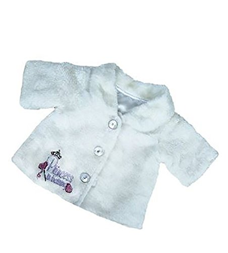 (White Princess Winter Jacket Outfit Teddy Bear Clothes Fits Most 14 -18