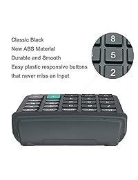 Calculadora básica, BESTWYA de 12 dígitos, calculadora de escritorio de mano con pantalla LCD grande, botón de gran sensibilidad.