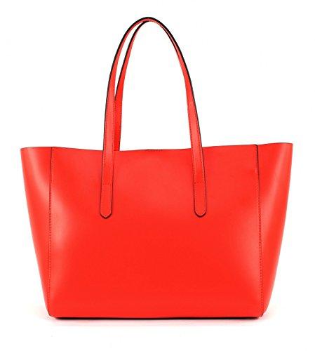 COCCINELLE Kim Shopper Bolsa Bolsabag Vermiglio