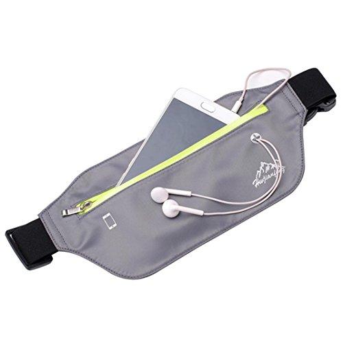 Cremallera elegir Negro De Cintura Con Con Gris variedad Multiuso Y Nylon Auriculares Bolsillos para Gusspower colores de Paquete Correr De Cinturón Impermeable De Una 1qwW6xWBA5