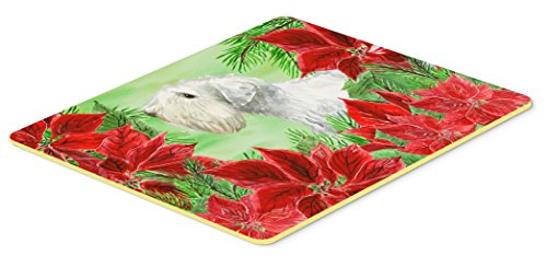 "Caroline's Treasures CK1332JCMT Sealyham Terrier Poinsettas Kitchen Mat, 24 x 36"", Multicolor"