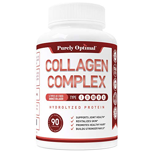 (Premium Multi Collagen Peptides Capsules (Types I,II,III,V,X) - Anti-Aging, Healthy Skin & Hair, Strong Joints, Bones & Nails - Hydrolyzed Collagen Protein Supplement for Women and Men - 30 Day Supply )