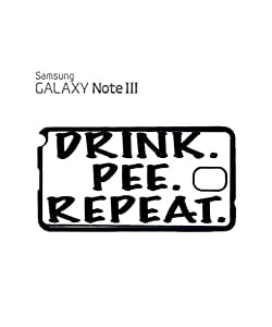 Drink Pee Repeat Beer Pub Drunk Mobile Cell Phone Case Samsung Note 3 Black