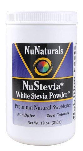 NuNaturals Nustevia White Stevia Powder, ( Economy Pack of 1020 Grams Total) Nunaturals-0w