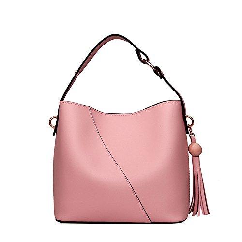 De La Girar Femenino Hace De Pink Negro Bolso Pu Nuevo Cuero Que Madre Portátil El Meaeo Bolso Del Diagonal Bolso La Del 4IZqw8x0