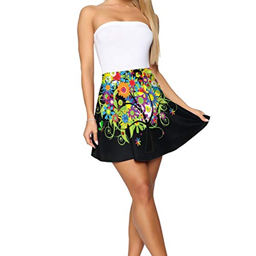 Mjpp Tree High Waist A-line Skirt Travel