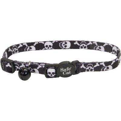 PIRATE SKULL CAT SAFETY BREAKAWAY COLLAR ADJ 8-12