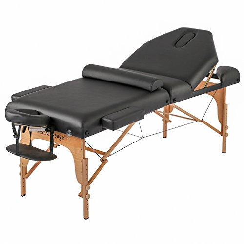 BestMassage Professiona 4″ Pad Portable Reiki Portable Massage Table w/ 77″ Long Solid Bedframe