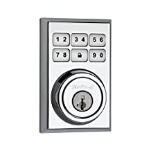 Kwikset 910 Z-Wave Contemporary SmartCode Electronic Deadbolt featuring SmartKey in Polished Chrome
