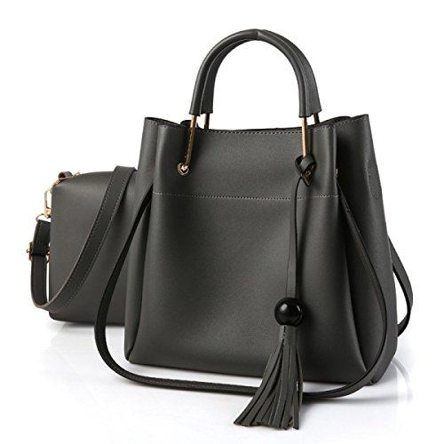 Bolso De Hombro Bolso De La Madre Bolsa De Gran Tamaño Señoras Messenger Bag Darkgray