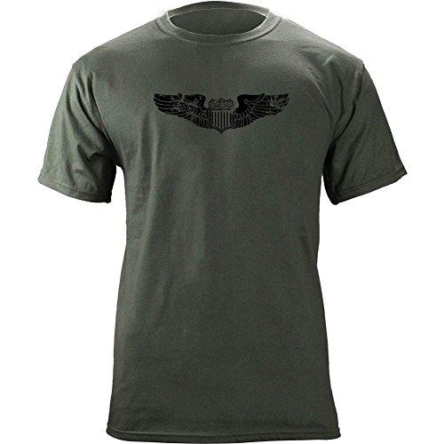 Air Force Pilot Badge - Vintage Air Force Pilot Badge Subdued Veteran T-Shirt (L, Green)