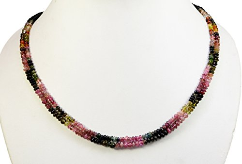 2/3/4/5 Multi Strings Tourmaline 5mm Size Cabochon Beads Strings Necklace Gemstone (Multi-2 Strands)
