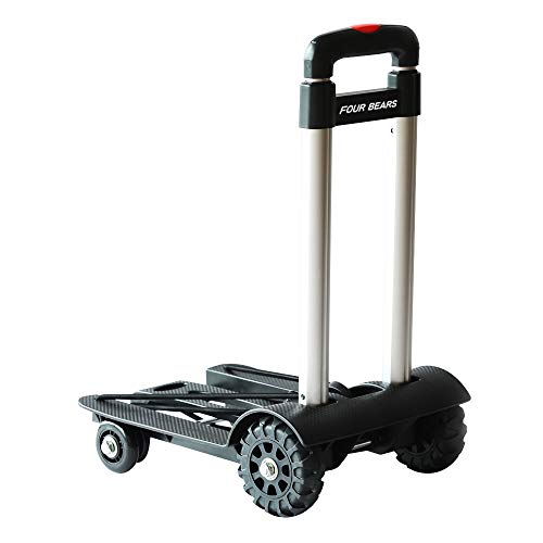 Chariots Courses Trolley Dolly Panier Bagages Iron Light Roues 2 De PTuOkXZi