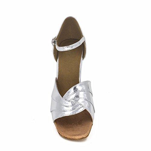Bcln Donna Open Toe Sandali Tacchi Latino Salsa Tango Pratica Scarpe Da Ballo Con Tacco 3.0
