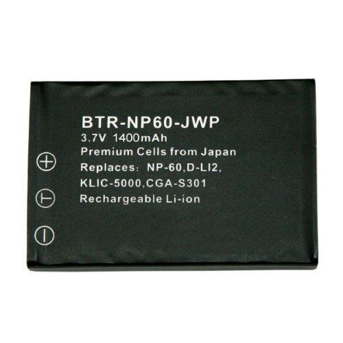 KINAMAX BTR-NP60-JWP-02 1400mAh NP-60 / DB-40 Replacement Battery for Creative DiVi CAM 428, Ricoh Caplio 500G / G3 / G4 / G4 Wide / RR10 / ()