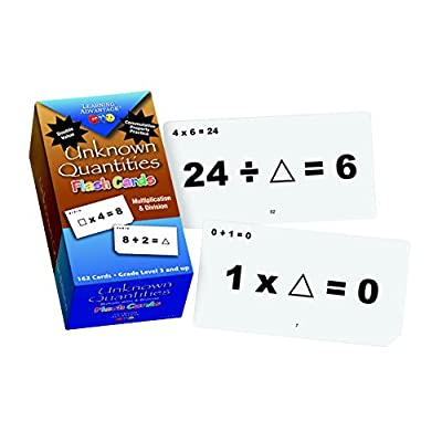 Learning Advantage 8652 Unknown Quantities Multiplication and Division Flash Cards: Industrial & Scientific