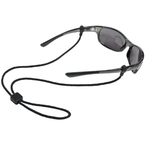 Chums Slip Fit Rope Eyewear Retainer, 3mm, Black