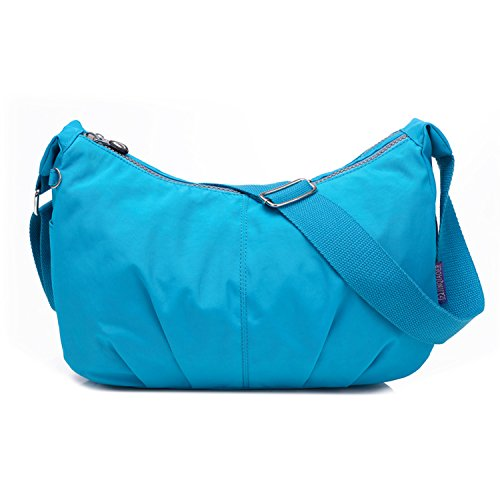 Outreo Bolsos de Casual Bolso Bandolera Moda Bolsas de Deporte Ligero Impermeable Bolsos Mujer Bolsas de Viaje para Escuela Pequeña Azul 3