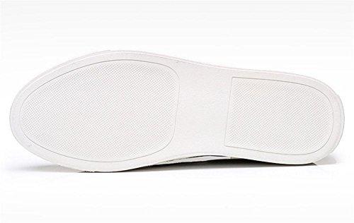 Hombres Mocasín Pisos Casual Cómodo Ajuste Ponerse Zapatos Respirable Negro marrón Brown