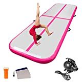 CLIENSY 10ft x 3.3ft Inflatable Air Track Tumbling Mat Gymnastics Airtrack Mat with Electric Air Pump for Home Use/Training/Cheerleading/Beach/Park