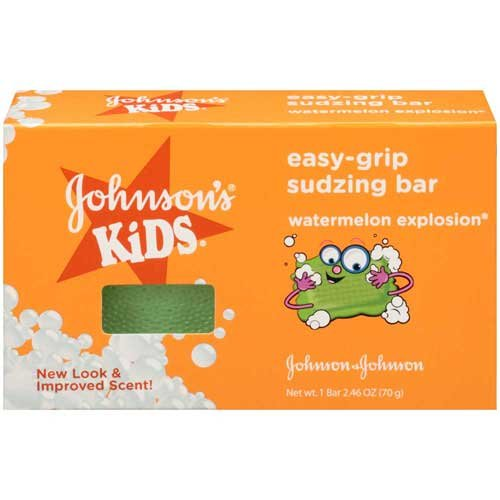 Johnsons Kids Easy-Grip Sudzing Bar 2.46 oz. Box - 24 per case. by Johnson and Johnson