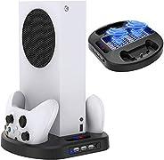 TwiHill Suporte de carregamento vertical para controladores Xbox Series S com ventilador de resfriamento, esta
