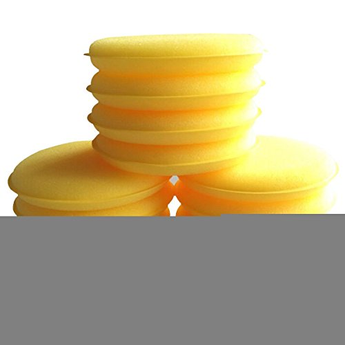 12pcs Waxing Polish Wax Foam Sponge Applicator Pads Fit for Clean Car Vehicle Auto Glass 3.75 Inches (Ace Foam)