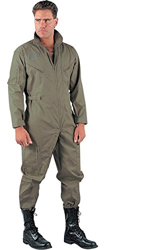 US Air Force Style Military Camouflage Flight Suit Coveralls (Olive Drab, Small)