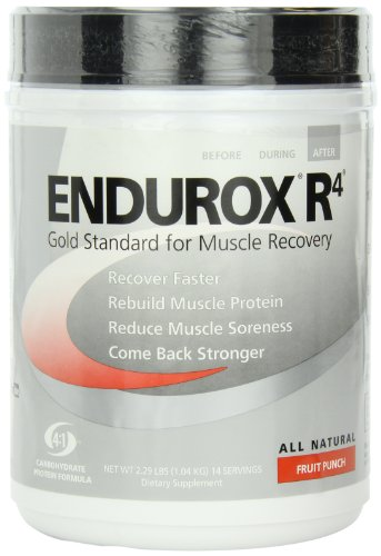 Pacific Health  Endurox R4, Fruit Punch, 14 serving Net WT 2.29 (Endurox R4 Recovery Drink)