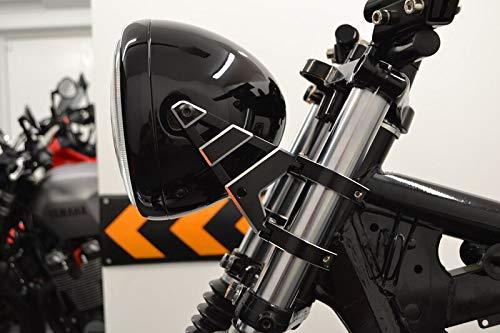 CNC Alluminio di Qualit/à Supporti Faro 48-49mm With Frecce su Forcelle per Moto