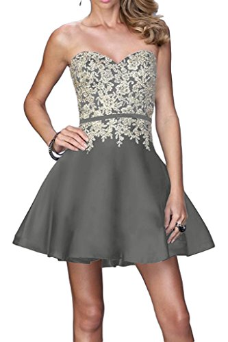 Abendkleid Ivydressing Silber A Applikation Spitze Promkleid Partykleid Beliebt Linie Damen Herzform fwrzf7q
