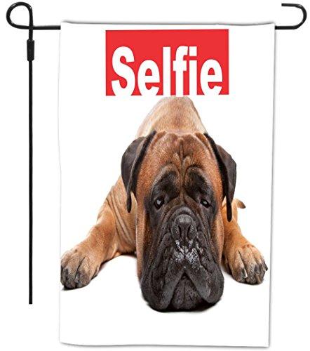 Rikki Knight Selfie Brown Mastiff Dog Design Decorative H...