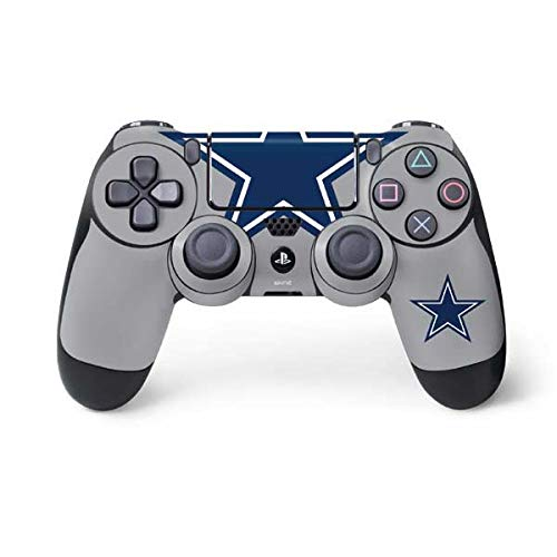 Skinit Decal Gaming Skin for PS4 Controller - Officially Licensed NFL Dallas Cowboys Retro Logo Design