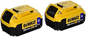 DEWALT DCB204BT-2 20V MAX 4Ah Compact Battery with Blue Tooth (2 Pack)