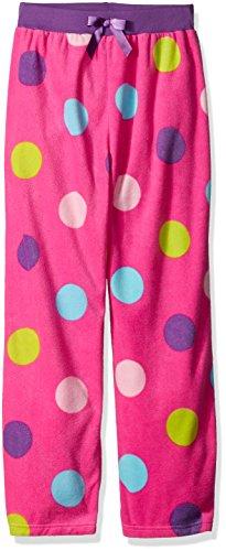 Komar Kids Girls' Big Girls' Dots Micro Fleece Pant, Pink, Xs