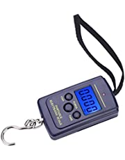 Fish Scale,Hanging Digital Scale 40kg Pocket Size Multi-functionals Pro Scale with Tare, Back-lit LCD Display for Fishing, Postal Parcel,Kitchen,Home