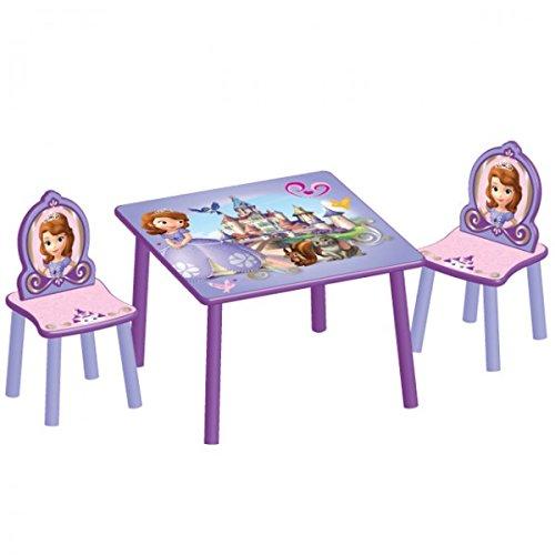 Disney Kindersitzgruppe Sofia Tisch 2 Stuhle Holz Sitzgruppe