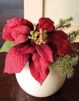 Stella Di Natale Artificiale.Stella Di Natale Artificiale Wanda In Vaso Di Ceramica