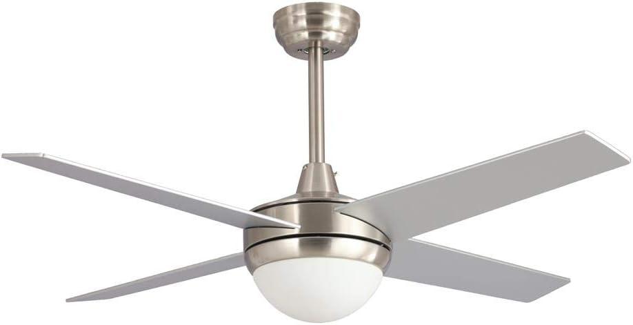 Ventilador de techo TORNADO LED niquel con mando a distancia.: Amazon.es: Iluminación