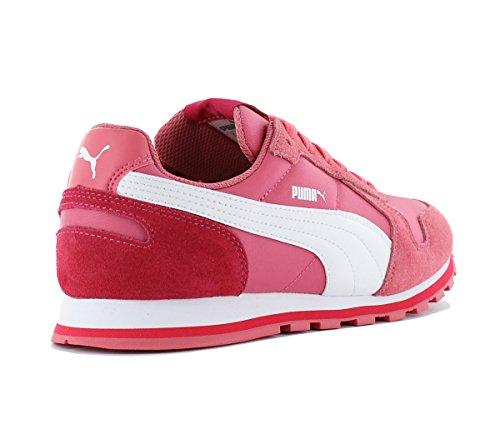 Puma St Runner NL 358770-20 Damen Schuhe Sneaker Frauen Turnschuhe Wildleder Textil Sportschuhe Rosa Rosa (Rosa-Weiß)