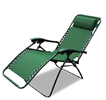 Good Outsunny Zero Gravity Recliner Lounge Patio Pool Chair, Green