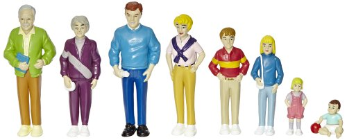 Marvel Pretend Play Family - Caucasian Dolls - Set of 8