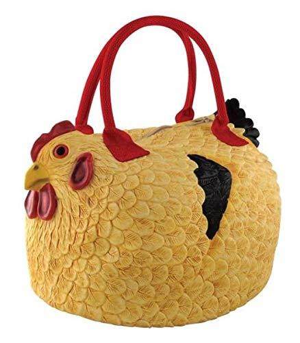 amazon com rubber chicken purse the hen bag handbag toys games