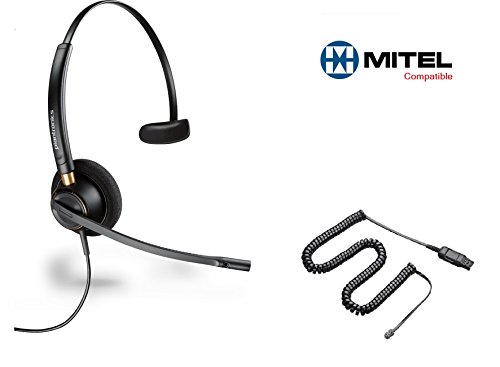 Mitel Compatible Plantronics EncorePro 510 HW510 Headsets Bundle for Mitel 50xx 51xx 52xx 53xx 55xx 85xx 8600
