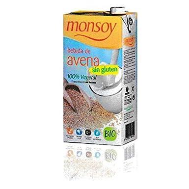 Pack 8x Bebida BIO de avena sin gluten Monsoy, 1 L: Amazon ...