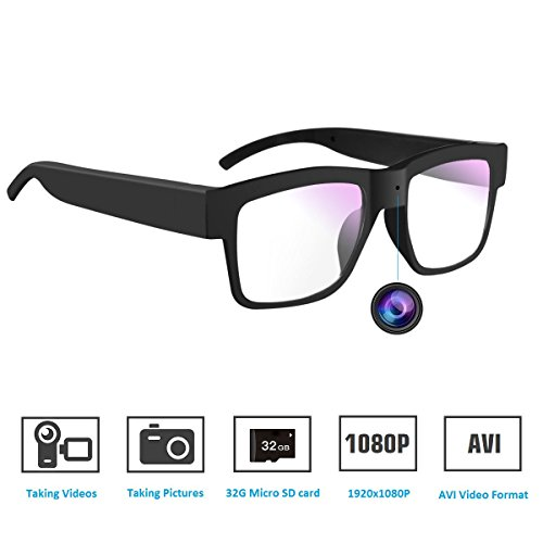 SENLUO Camera Glasses, Hidden Camera Glasses HD 1080P Mini DV Camcorder Video Recorder